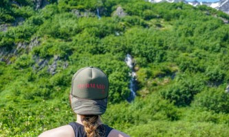 Exit glacier guides nature hike