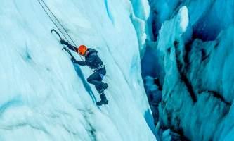 Exit glacier guides ice climbing 3