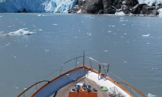 Alaska whittier North Pacific Expeditions Ppl looking at camera foredeck vertical north pacific expeditions