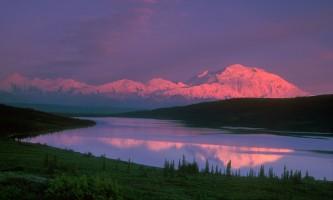 Narrated tour buses in denali national park RSK 019 curved Alaska Channel