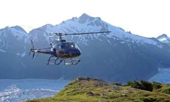 Northstar trekking Heli Landing on Mountain