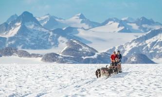 Northstar trekking glacier dog sled adventure North Star Sledding