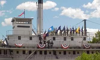 Alaska July 4 color guard Alaska Channel Pioneer Park
