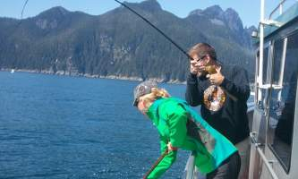 Steve Zernia Netting Seward Silver Salmon alaska profish n sea seward