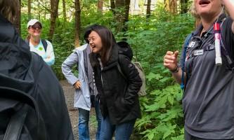 Rainforest sanctuary totem park eagles ARS Trail happy guests guide