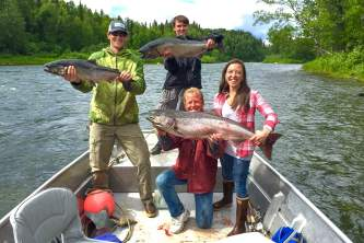 Regalr air fishing Lake Creek Lodge