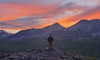St elias alpine guides Alaskan Sunset