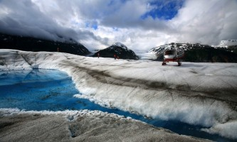 Alaska temsco skagway glacier discovery by helicopter tour Heli Blue Pool TEMSCO Skagway Glacier Discovery by Helicopter Tour