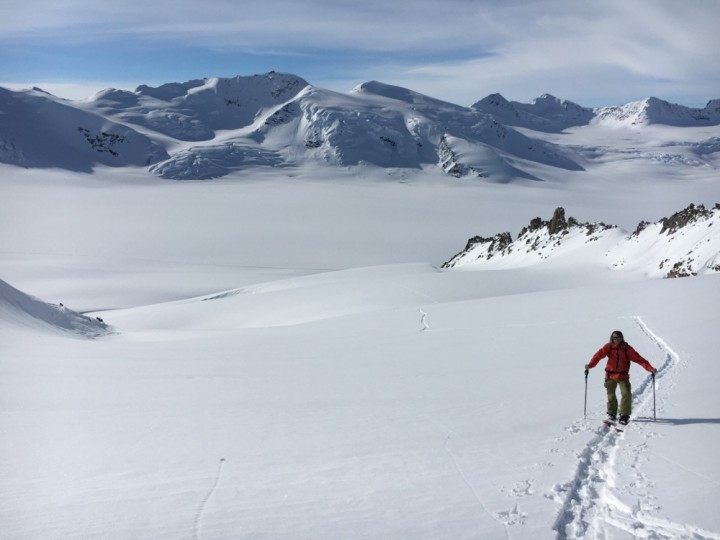 Take a ski-bump flight and enjoy a nice long run without having to hike, or book a multi-day trip to a glacier ski camp
