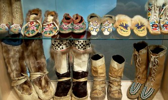UAF Museum of the North uamn exhibit moccassins2019