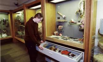 UAF Museum of the North uamn exhibit handson drawers2019