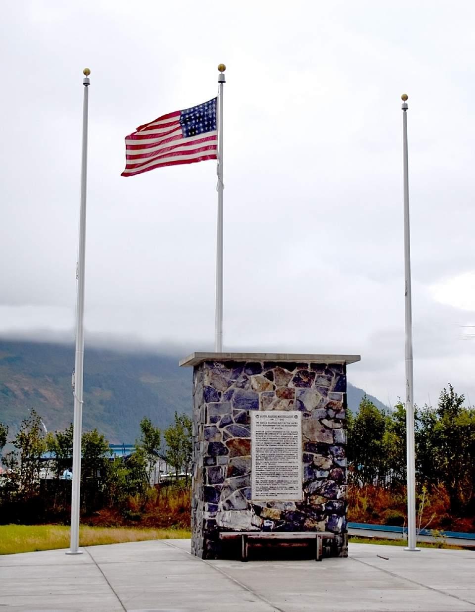 Modern WWII Railroad Commemorative Monument