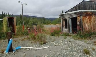 MILE 0 Old Denali Highway gas station at Paxson Lodge