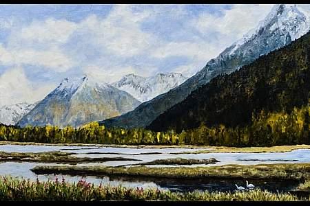 """Tern Lake, Crossroads of the Kenai Peninsula"" by Scott Sherritt"