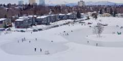 Ice Skating at Westchester Lagoon & Other Anchorage Lakes