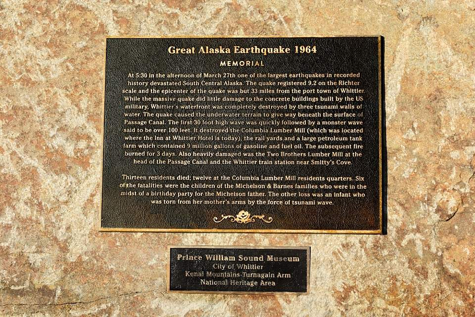 Great Alaska Earthquake 1964 Plaque