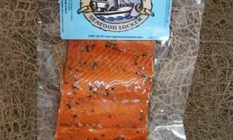 Steve Zernia Smoked Sockeye 1lb lemon pepper alaska captain jacks seafood locker