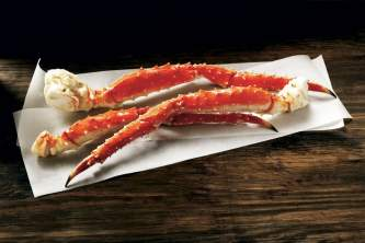 Alaska food and drink AK Luggage Red King Crab Legs raw