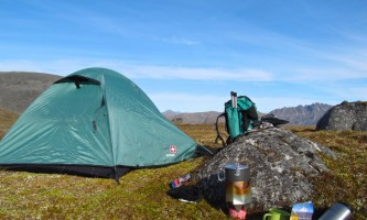 Caribou lodge Tent camping