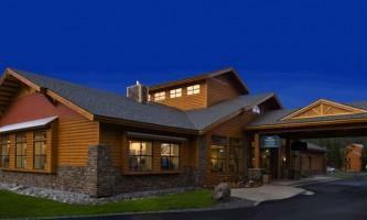 Denali park village Lodge at Night