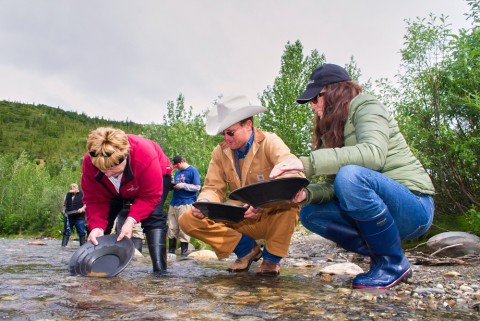 Go for guided hikes, fly-fish in Moose Creek, mountain bike along the old mining roads, and pan for gold.