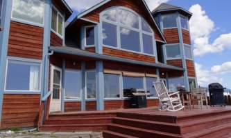 Adrienne Sweeney Seaside deck alaska homer driftwood inn