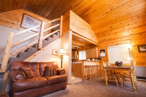 Loft of Grande Cabin at Hatcher Pass Cabins