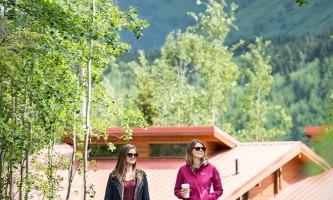 Property two women walking at Kenai kpl 12 alaska kenai princess wilderness lodge