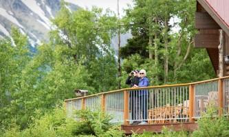 Deck Man and woman at Kenai kpl 07 alaska kenai princess wilderness lodge