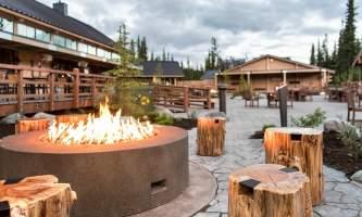 Property Firepit at Denali Square at Mc Kinley Chalet mc 02 small alaska mckinley chalet resort denali princess