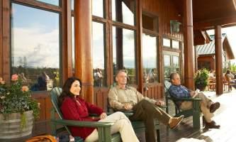 MPL Sitting on the deck alaska denali princess wilderness lodge