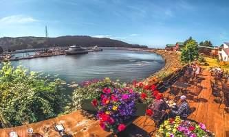 Seldovia Boardwalk Hotel SBH Summer Day in Seldovia
