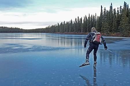 Ice Skating at Nancy Lake State Recreation Area