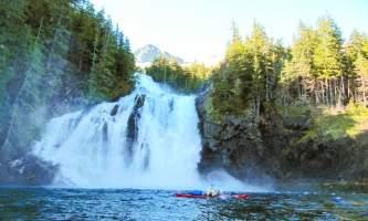 Cascade falls waterfall Cascade Falls Cascade Bay Campsite