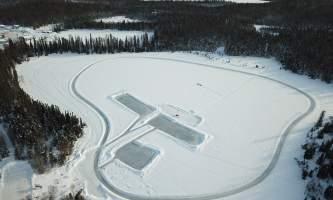 A R C Lake Skating Trail Rinks Drone Photo alaska untitled