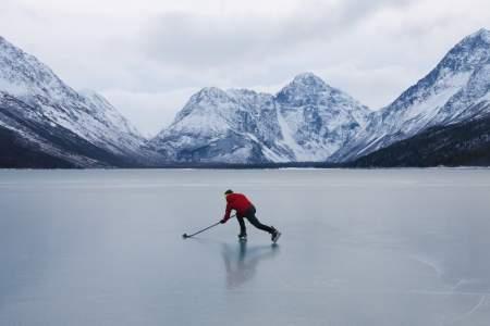 Eklutna Lake Ice Skating