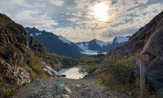 Portage Pass Summit alaska whittier trails