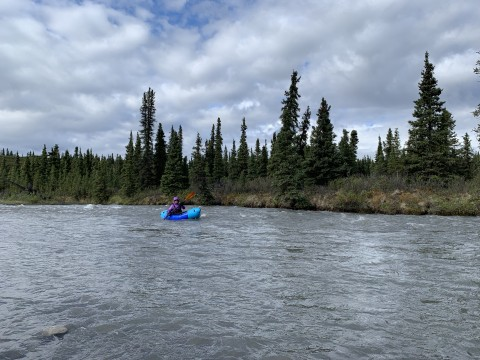 Packrafter on the Sanctuary River