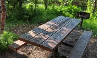 Laura Rhyner picnic table alaska untitled
