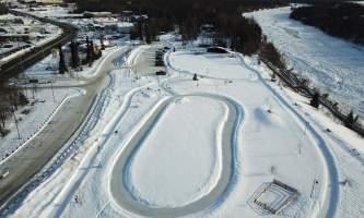 Soldotna Creek Park Winter Skate Path Aerial alaska untitled