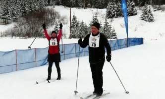 Jenny Neyman happy skiers alaska untitled