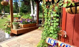 Alaska Tka porch out to garden Aug 2017 kahiltna birch works