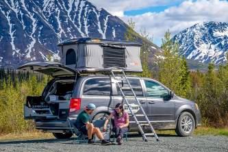 2021 Get Lost Vans Kitchen Tent Setup