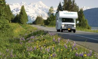 Great alaskan holidays motorhome rentals Scenic RV Driving Fireweed Jeff Schultz Alaska Stock com