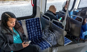 People moverriders on bus