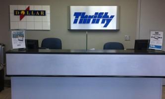 Thrifty Dollar Car Rental Spenard Road location rental counter2019