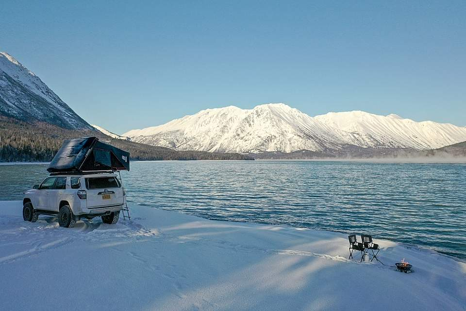 Complete with rooftop tents, camp stove, and refrigerator, Overlanders are perfect for exploring Alaska. They're as easy to to drive down remote gravel roads as they are to park in the busy city.
