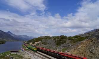 Alaska alaska white pass yukon route railroad hiker transport skagway DSC06697 White Pass Yukon Route Rail