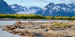 Copper River Highway Sheridan Glacier Background Wendy Ranney alaska cordova trip ideas